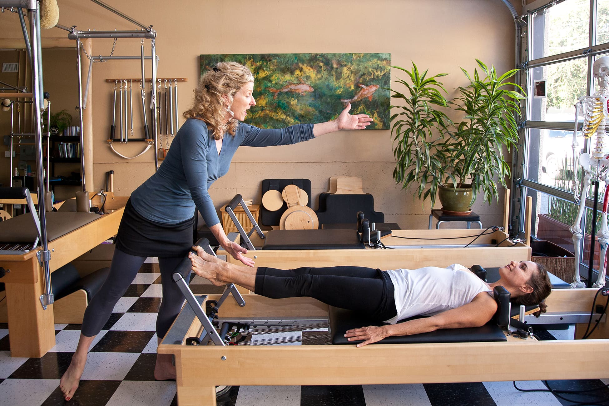 Kathleen's pilates practice photographed by Larry Dyer